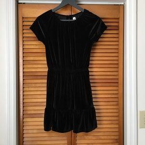 GAP Kids | Girl's Black Velvet Short Sleeve Dress
